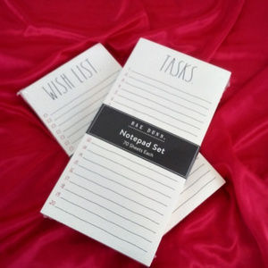 Rae Dunn Shopping Notepads